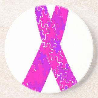 Cinta púrpura del modelo del rompecabezas de las posavasos diseño