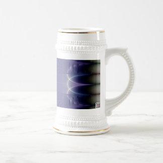 Cinta púrpura tazas de café