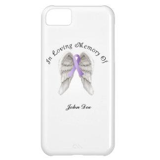 Cinta púrpura todo el cáncer en memoria carcasa iPhone 5C