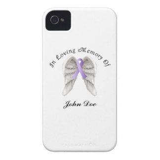 Cinta púrpura todo el cáncer en memoria carcasa para iPhone 4