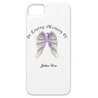 Cinta púrpura todo el cáncer en memoria funda para iPhone SE/5/5s