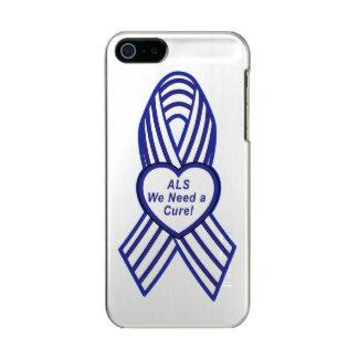 Cinta rayada de la conciencia del ALS Funda Para iPhone 5 Incipio Feather Shine