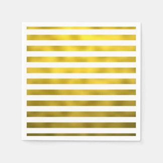 Cinta rayada de las falsas rayas horizontales servilleta de papel