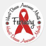 Cinta roja 1,3 del mes de la conciencia de la etiqueta redonda