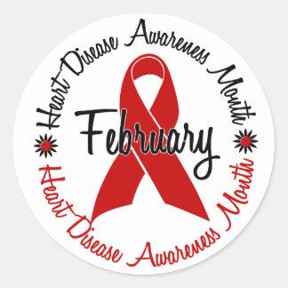 Cinta roja 1,3 del mes de la conciencia de la pegatina redonda