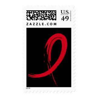 Cinta roja A4 del SIDA Sellos