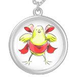 Cinta roja abstract.png del polluelo amarillo colgante