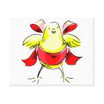 Cinta roja abstract.png del polluelo amarillo impresiones en lona estiradas