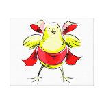 Cinta roja abstract.png del polluelo amarillo lona envuelta para galerías