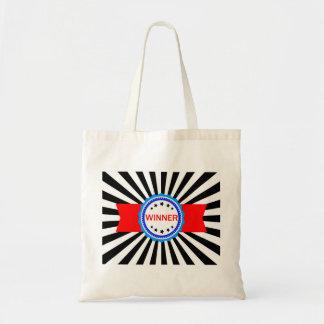Cinta roja, blanca y azul del ganador bolsa tela barata