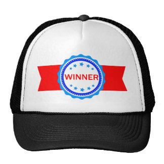 Cinta roja, blanca y azul del ganador gorra
