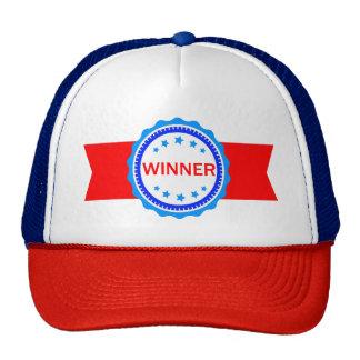 Cinta roja, blanca y azul del ganador gorras de camionero