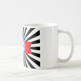 Cinta roja, blanca y azul del ganador taza clásica