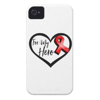 Cinta roja de la conciencia para mi héroe funda para iPhone 4 de Case-Mate