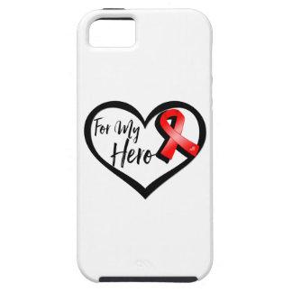 Cinta roja de la conciencia para mi héroe funda para iPhone SE/5/5s