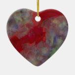 Cinta roja del impresionismo del extracto del sino ornamentos para reyes magos