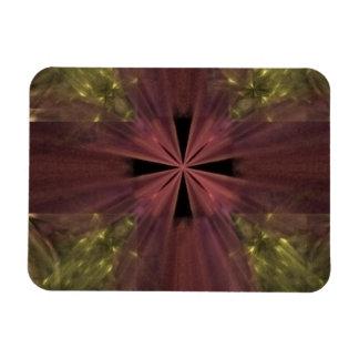 Cinta roja en el paquete del oro rectangle magnet