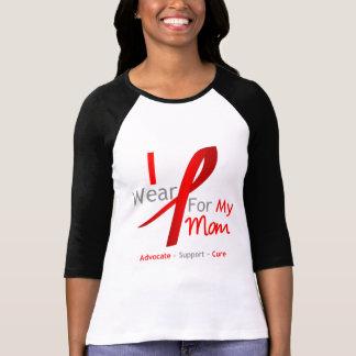 Cinta roja llevo el rojo para mi mamá camiseta