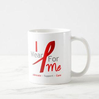 Cinta roja llevo el rojo para mí taza