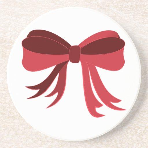 Cinta roja posavasos personalizados