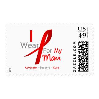 Cinta roja que llevo para mi mamá timbres postales