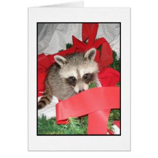 Cinta roja tarjeta pequeña