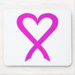 Cinta rosada 01PK del cáncer Tapetes De Raton