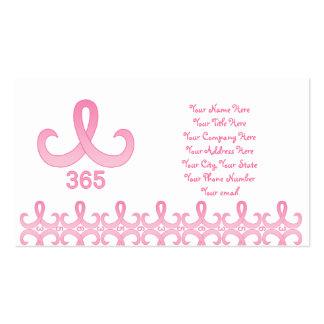 Cinta rosada 365 tarjetas de visita