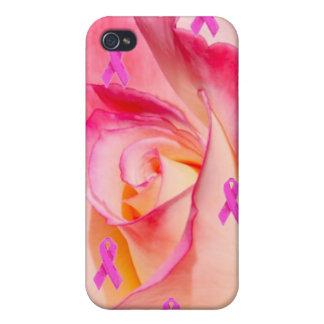 Cinta rosada 4 del rosa color de rosa iPhone 4 cárcasa
