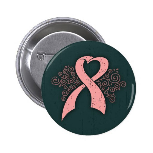 Cinta rosada antigua pin redondo 5 cm