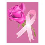Cinta rosada con conciencia color de rosa del cánc tarjeton