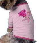 Cinta rosada con conciencia color de rosa del cánc ropa perro