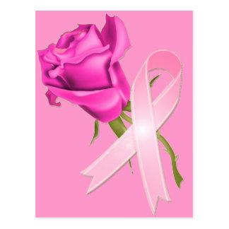Cinta rosada con conciencia color de rosa del cánc tarjetas postales