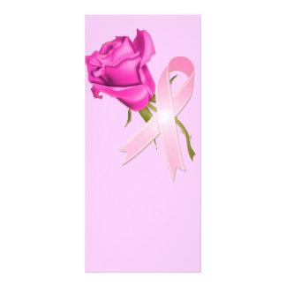 Cinta rosada con conciencia color de rosa del cánc tarjetas publicitarias a todo color