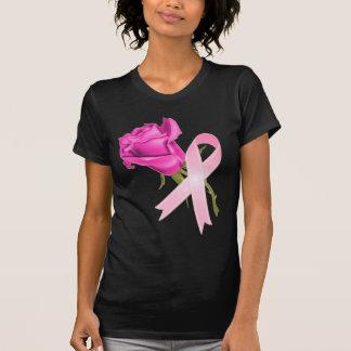 Cinta rosada con conciencia color de rosa del camisetas