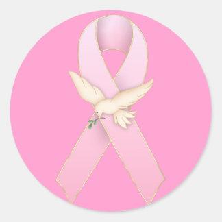 Cinta rosada con los pegatinas de la paloma del bl