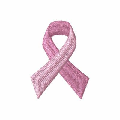 Cinta rosada - conciencia del cáncer de pecho sudadera bordada