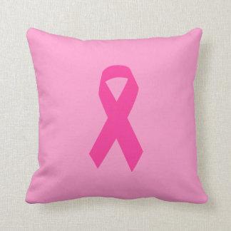 Cinta rosada de la conciencia almohadas