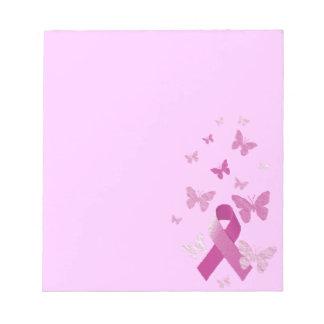 Cinta rosada de la conciencia blocs de papel