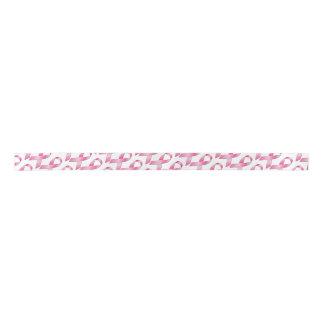 Cinta rosada de la conciencia del cáncer de pecho lazo de raso