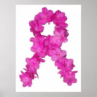 Cinta rosada de la conciencia del cáncer de pecho  impresiones