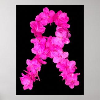 Cinta rosada de la conciencia del cáncer de pecho  póster
