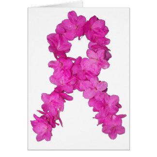 Cinta rosada de la conciencia del cáncer de pecho  tarjeta de felicitación