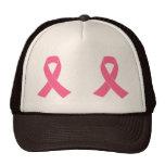 Cinta rosada de la conciencia del cáncer gorras