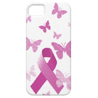 Cinta rosada de la conciencia iPhone 5 carcasa