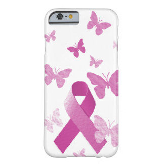 Cinta rosada de la conciencia funda de iPhone 6 barely there