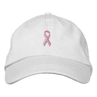 Cinta rosada de la conciencia gorra de beisbol