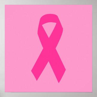 Cinta rosada de la conciencia impresiones