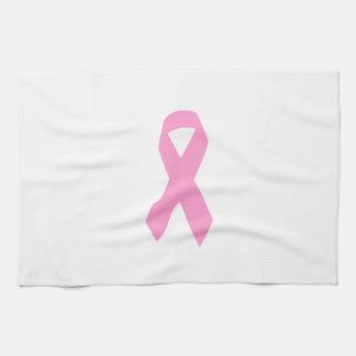 Cinta rosada de la conciencia toalla de cocina