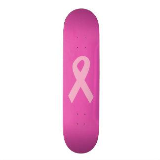 Cinta rosada de la conciencia skateboards